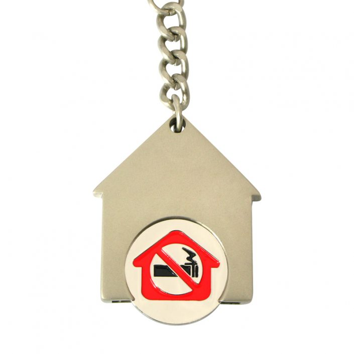 House shape keychain with soft enamel coin,cj-house