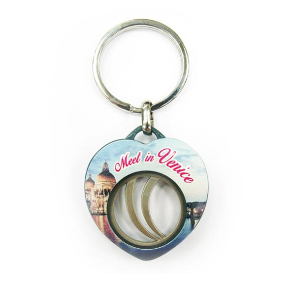 Heart Shape Coin Keychain