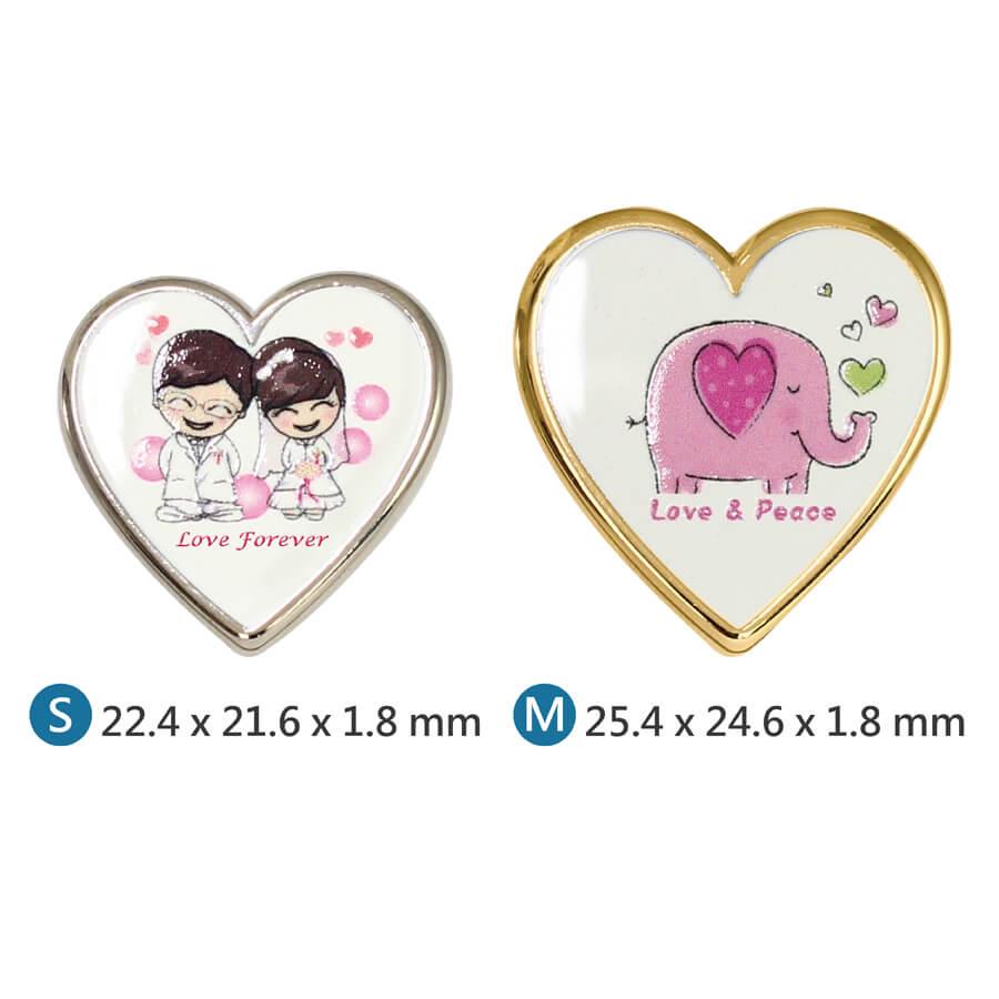 Custom Logo Heart Shaped Metal Pin