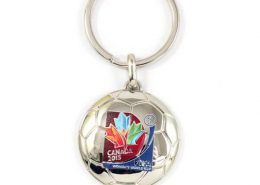 Customized soccer shape keychain