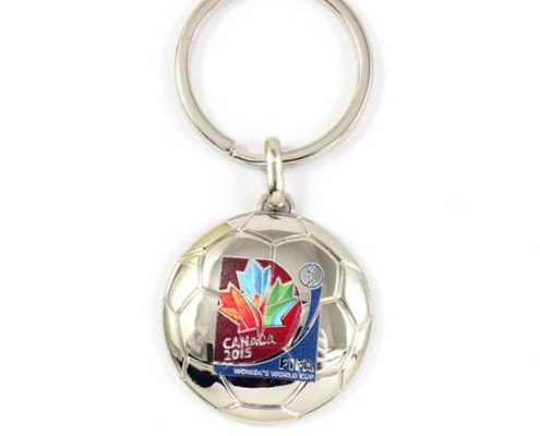 Customized soccer shape keychain
