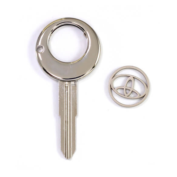 Key shape key holder for personalized coin