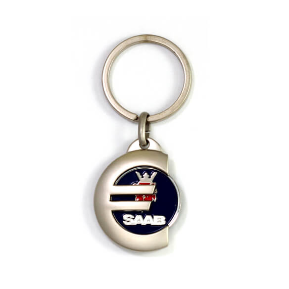 Euro Sign Shaped Coin Keychain is creative and significant