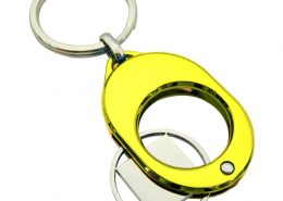 Oval Shaped Shopping Cart Coin Keyring