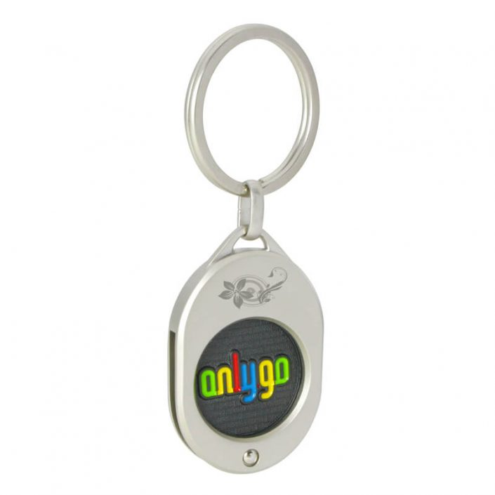 The coin of Oval Shaped Coin keyring with Custom Coin is customized