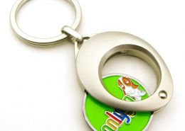 Almond Shape Coin Keychain
