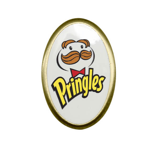 Oval Shape Metal Badge