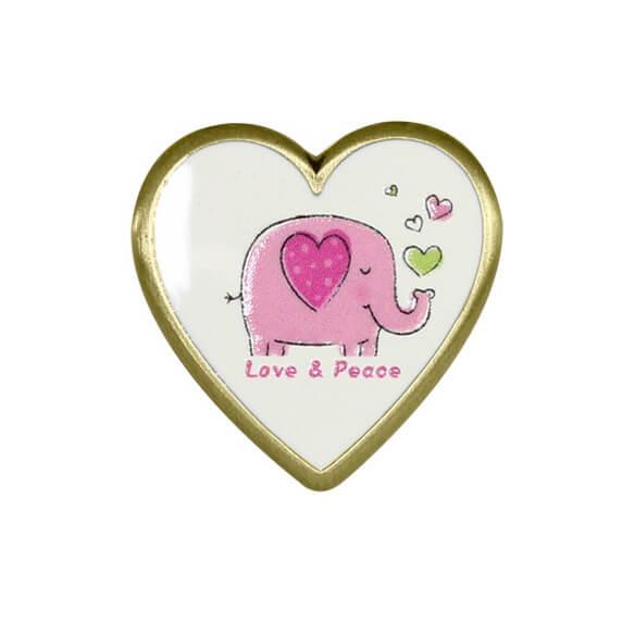 Cute Heart Shaped Badge
