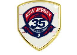 Digital Printing Team Logo Pin Badge with Shield