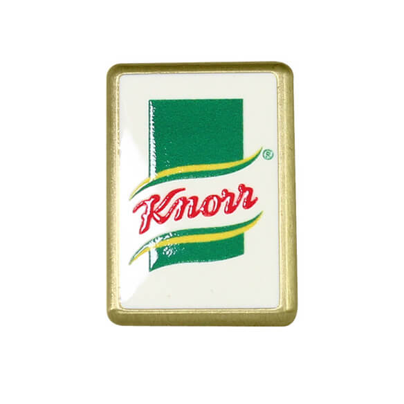 Custom Rectangle Metal Pin Badge