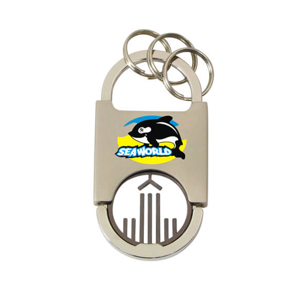 Round Edge Design Coin Keychain is made of zinc alloy