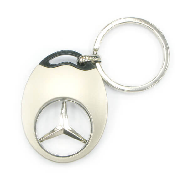Slightly Curve Oval Shape Metal Coin keyring