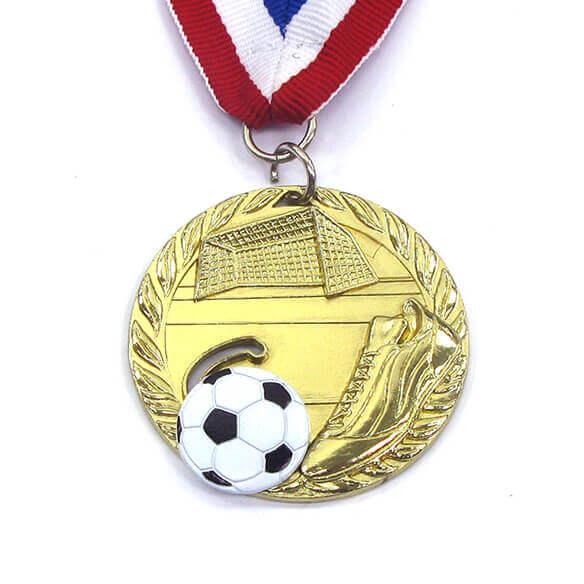 Sliding Soccer Sport Medal