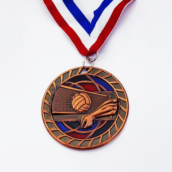 Volleyball Custom Medal