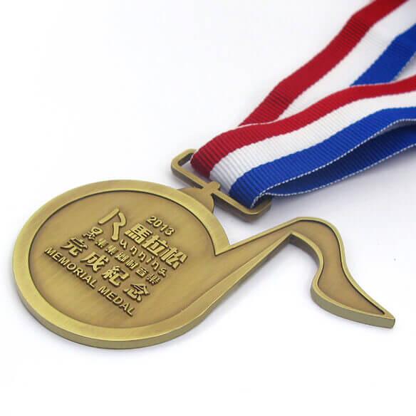Antique Bronze Note Shape Medal