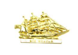3D Gold Tall Ship Pin Badge