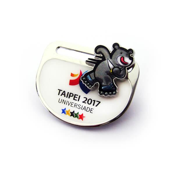 2017 Taipei Universiade Bear Bravo Sliding Badge
