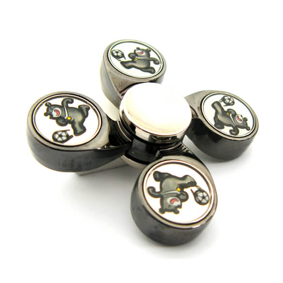 4 Axis Fidget Spinner Stress Relief Toy with Custom Patterned