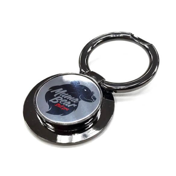 多功能旋轉鋅合金手機指環