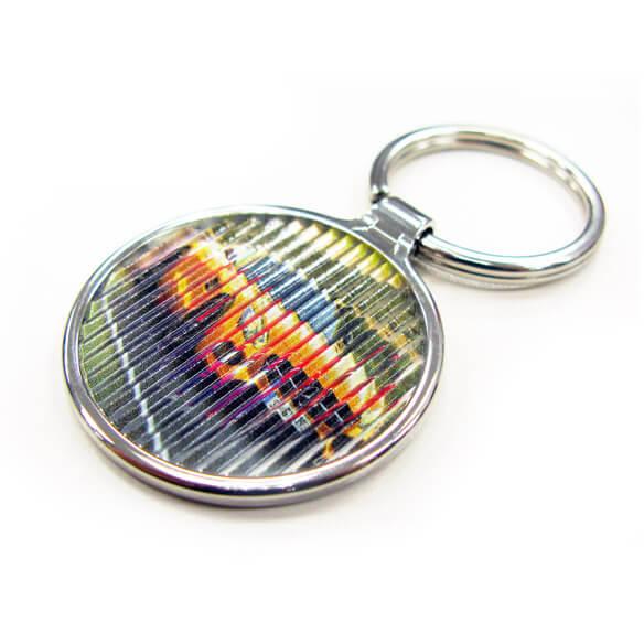 latent image zinc alloy keychain