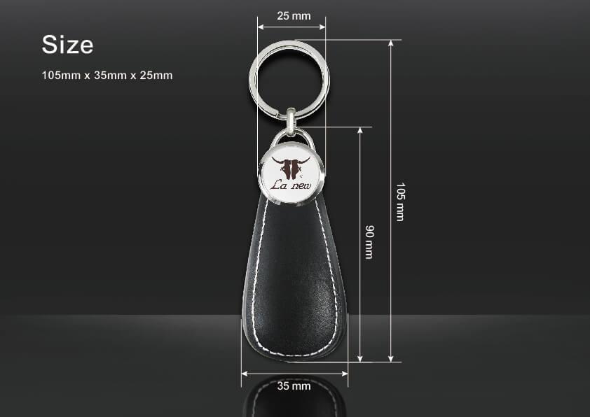Custom-Made Shoehorn Pull Keychain