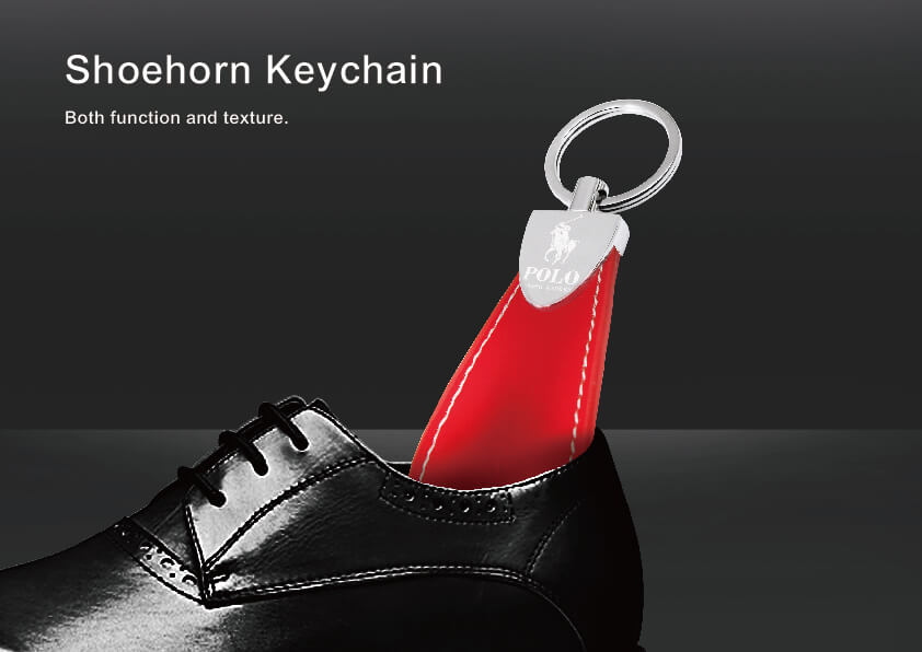 360 Degree Rotation Shoehorn Keychain