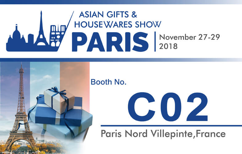2018 Paris Asian Gifts & Housewares Show in France