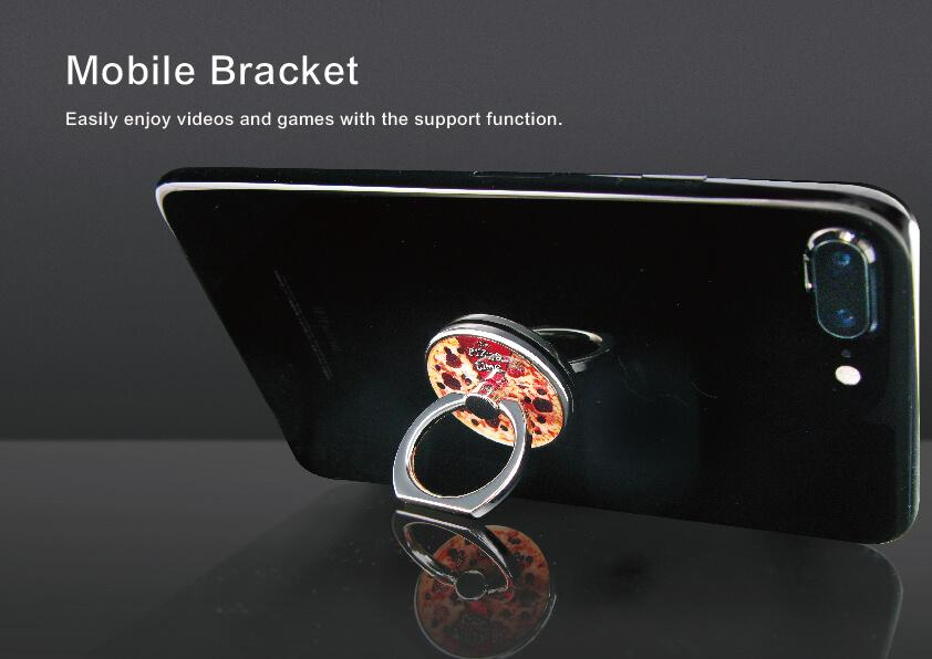 Custom Round Metal Rotating 360° Mobile Ring