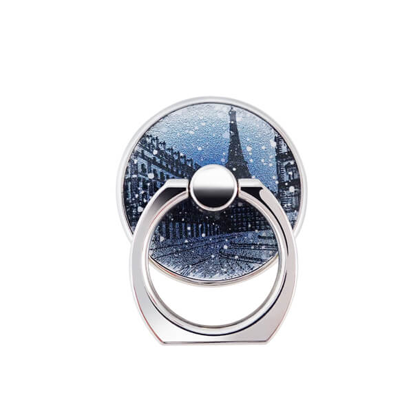 The pattern of the mobile rotating ring is about snowing in Paris