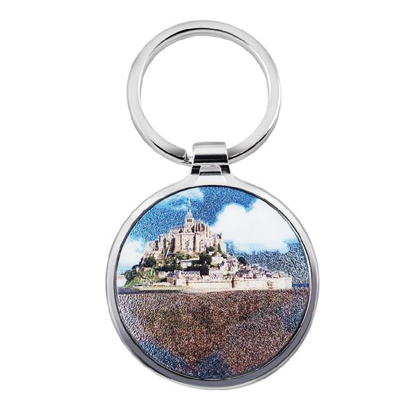 Round keychain with the beautiful scene photo