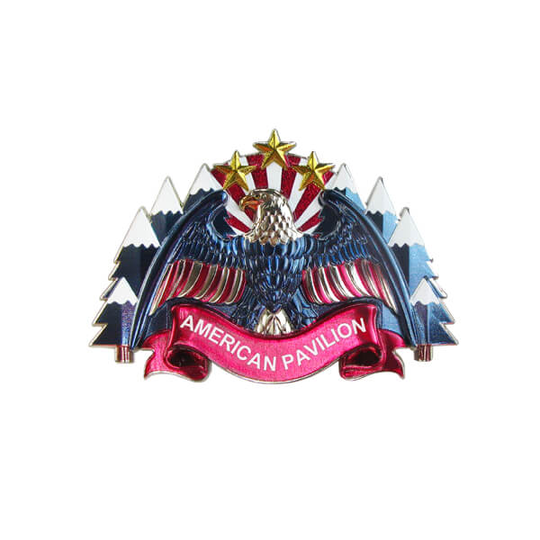 American Style Custom Metal Pin Badge