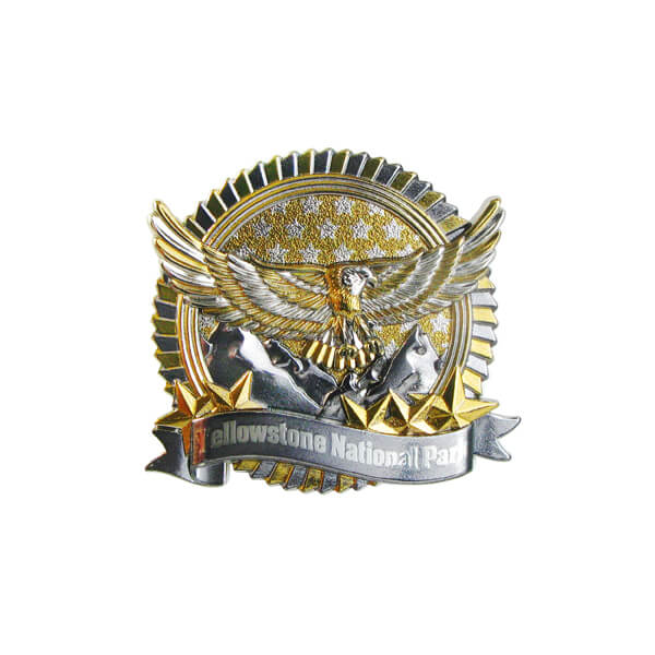 Round 3D American Style Metal Pin Badge
