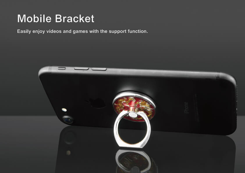 Dragons Snapping at a Pearl Style Mobile Ring