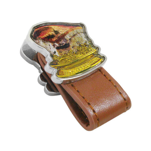 Meat-shaped Stone Style Printing Leather Cord Winder