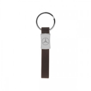 The front side of Personal Car Logo Metal Leather Keychain