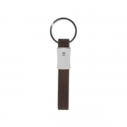The back side of Personal Car Logo Metal Leather Keychain
