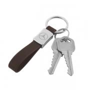 Put keys in Personal Car Logo Metal Leather Keychain