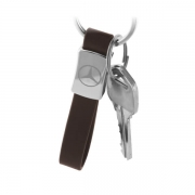 Hang on a key with Personal Car Logo Metal Leather Keychain