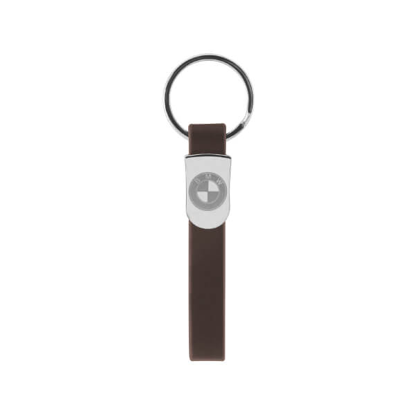 Customized Engraved Logo Leather Keychain