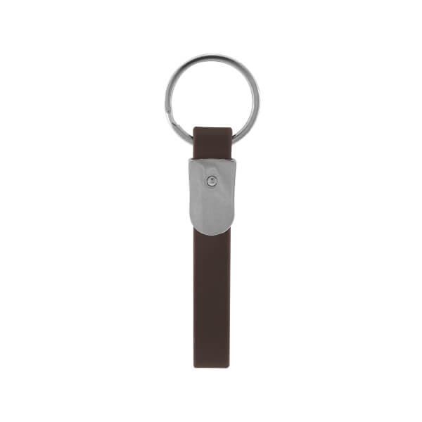 Customized Engraved Logo Leather Keychain