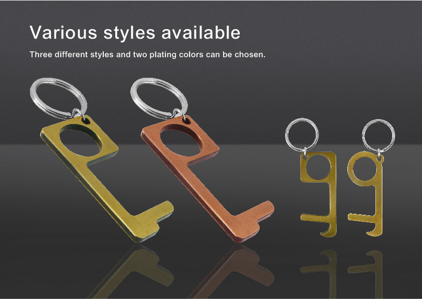 Non-Contact Door Opener Keychain