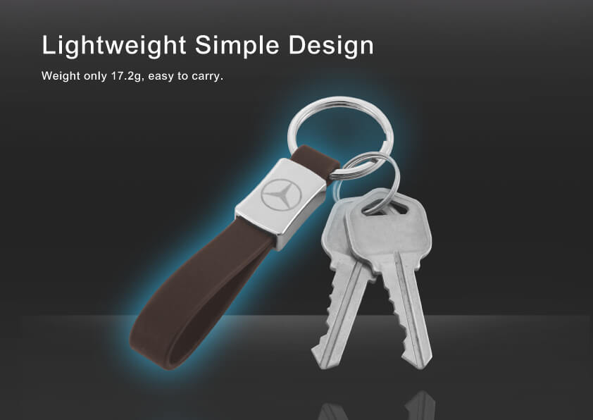 Personal Car Logo Metal Leather Keychain is light and easy to carry