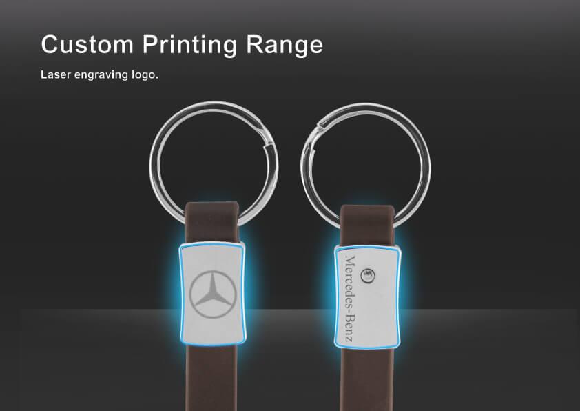 The custom printing range of Car Logo Metal Leather Keychain