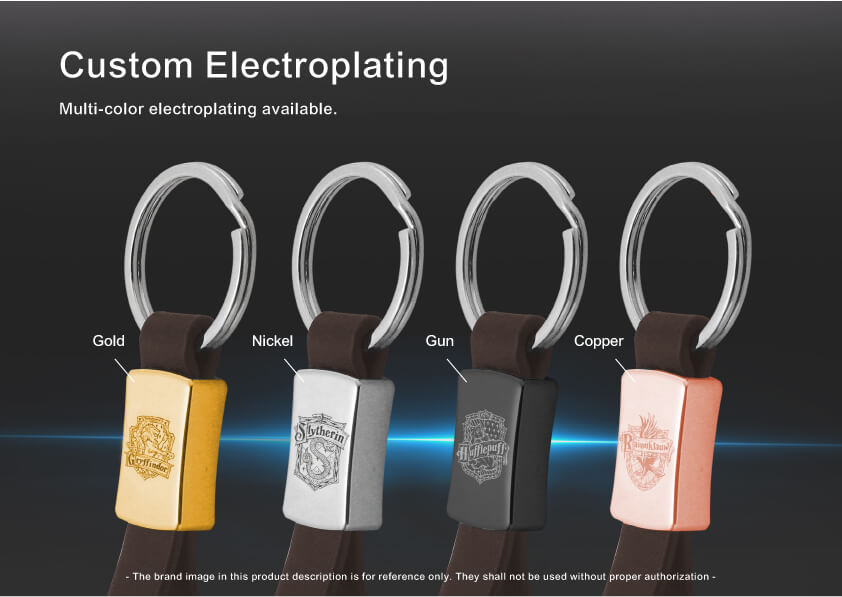 The metal plating color of Personal Car Logo Metal Leather Keychain can be customized
