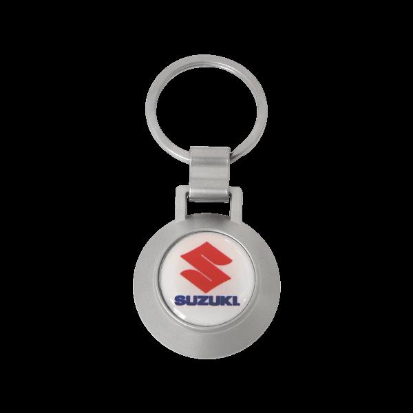 Round shape bottle opener keychain