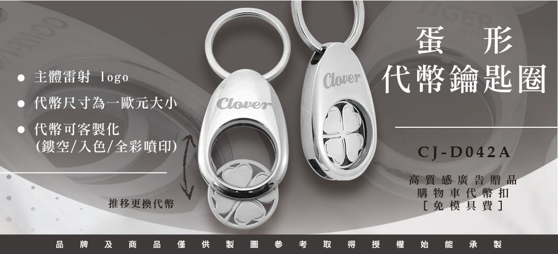 Egg-shaped Metal Coin Holder Keychain