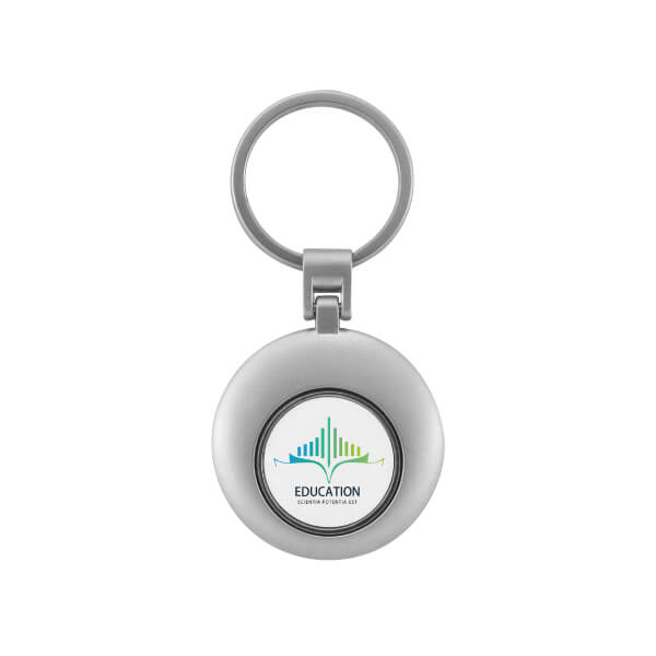 The front side of Round Shape Magnetic Coin Keyring