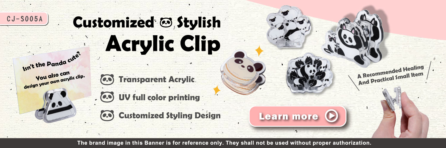 The banner of Customized Acrylic Clip