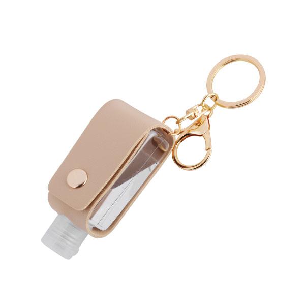 レザートラベルボトルキーホルダー ナスカン+二重カン付で使用しやすいです