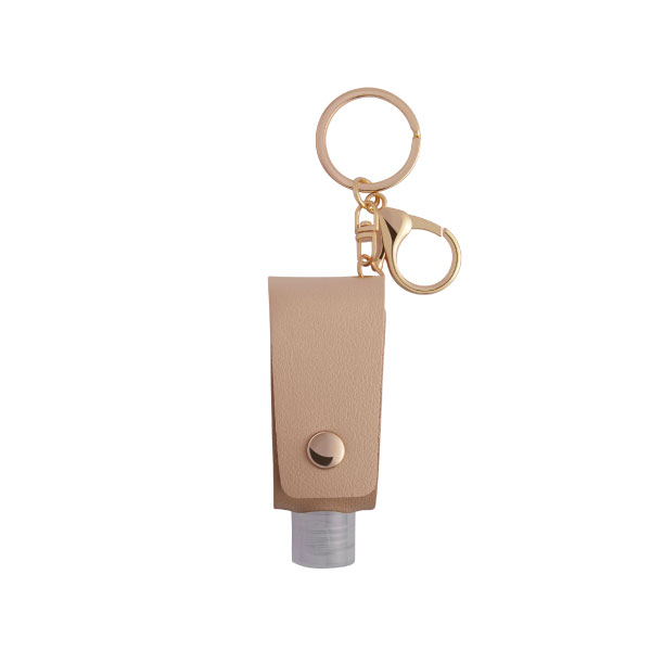 The front side of Travel Bottle With High Class Keychain